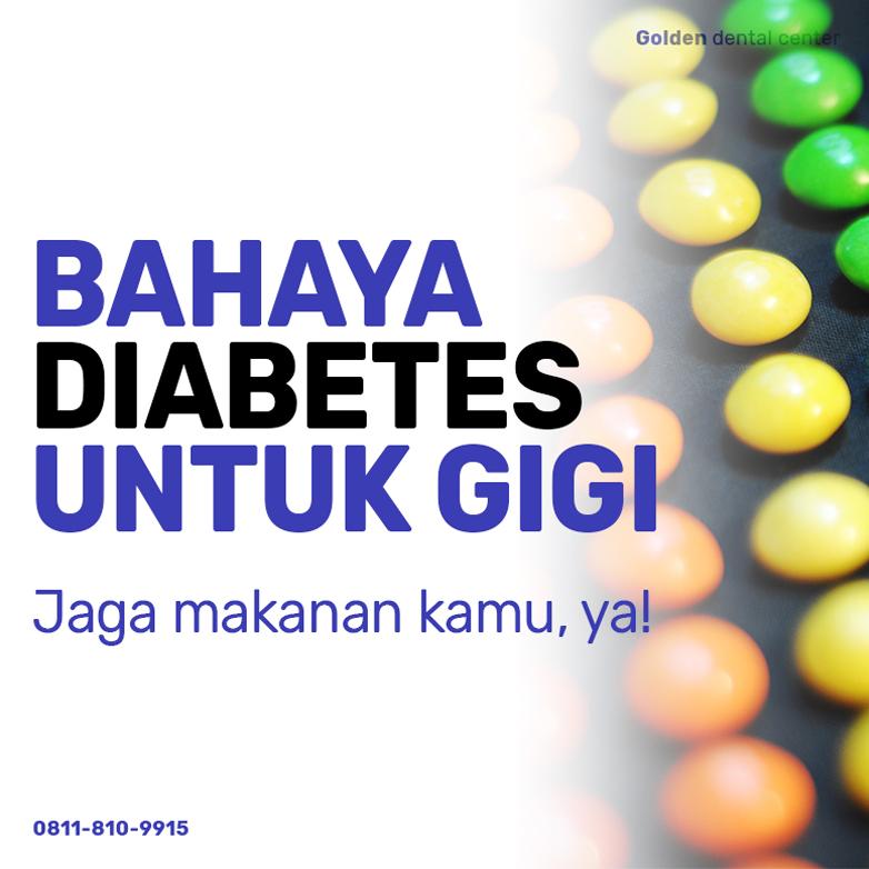 Bahaya diabetes untuk gigi!