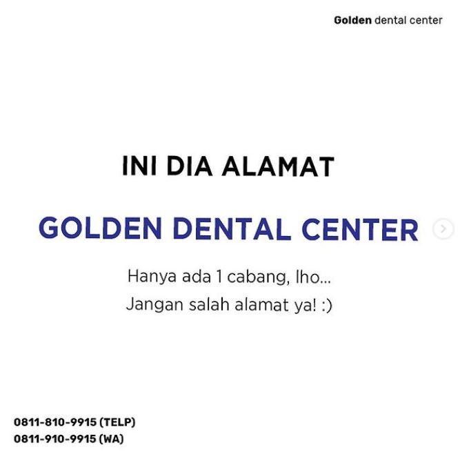 Ini dia alamat Golden Dental Center!